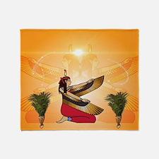 Isis the goddess of Egyptian mythology Throw Blank