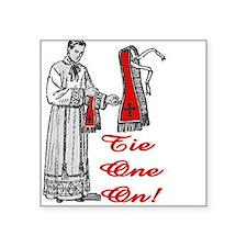 "Cute Traditional catholic Square Sticker 3"" x 3"""