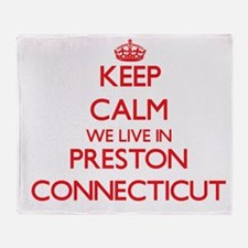 Keep calm we live in Preston Connect Throw Blanket