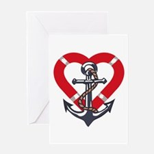 ANCHOR AND PRESERVER Greeting Cards
