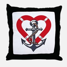 ANCHOR AND PRESERVER Throw Pillow