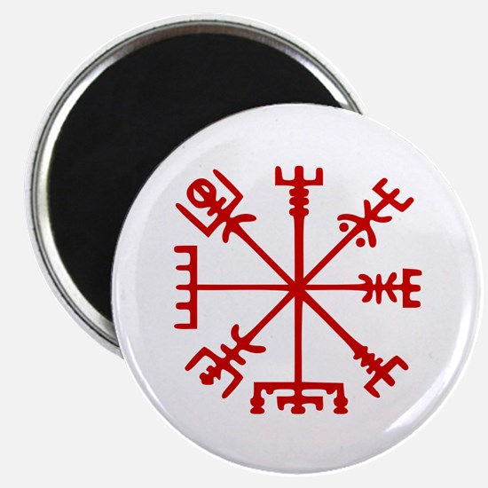 Blood Red Viking Compass : Vegvisir Magnets