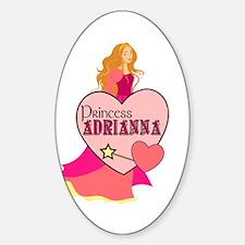 Princess Adrianna Oval Decal