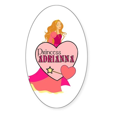 Princess Adrianna Oval Sticker