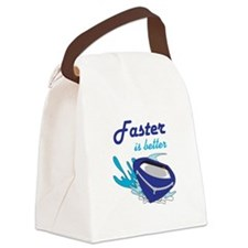 FASTER IS BETTER Canvas Lunch Bag