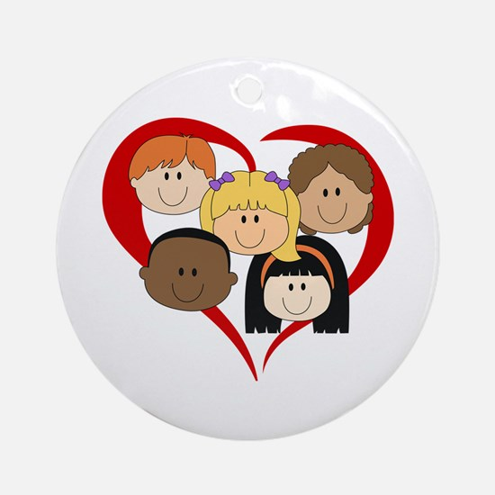 HEART KIDS Ornament (Round)
