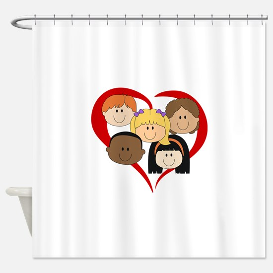 HEART KIDS Shower Curtain