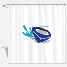 POWERBOAT Shower Curtain