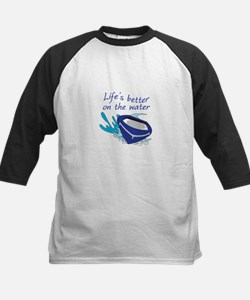 LIFES BETTER ON THE WATER Baseball Jersey