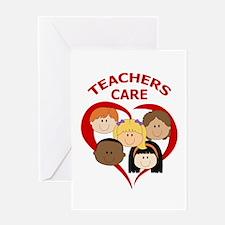 TEACHERS CARE Greeting Cards