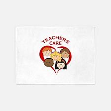 TEACHERS CARE 5'x7'Area Rug