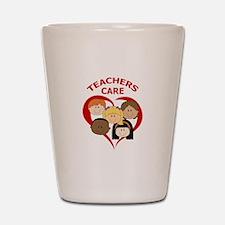 TEACHERS CARE Shot Glass