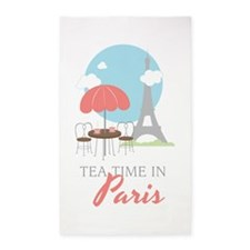 Tea Time in Paris Area Rug