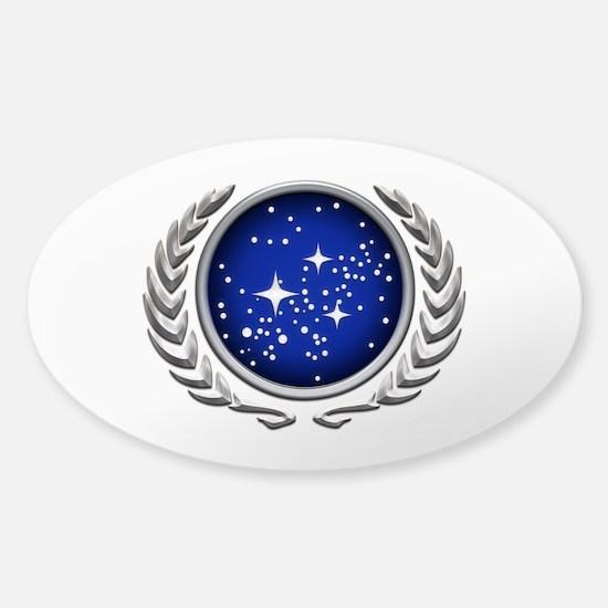 Star Trek UFP silver Decal
