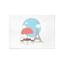 Eiffel Tower Cafe 5'x7'Area Rug