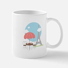 Eiffel Tower Cafe Mugs