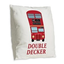 Double Decker Burlap Throw Pillow