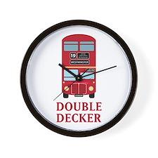 Double Decker Wall Clock