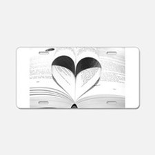 For the Love of Books Aluminum License Plate