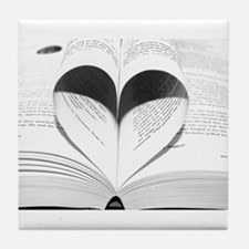 For the Love of Books Tile Coaster