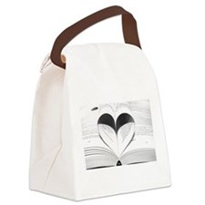For the Love of Books Canvas Lunch Bag