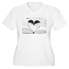 For the Love of Books Plus Size T-Shirt