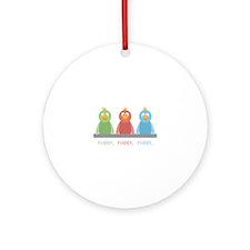 Tweet. Tweet. Tweet Ornament (Round)
