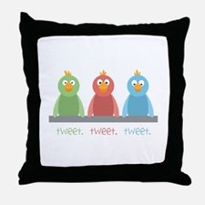 Tweet. Tweet. Tweet Throw Pillow