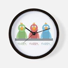 Tweet. Tweet. Tweet Wall Clock