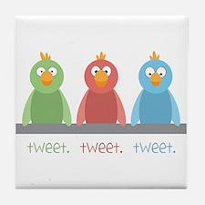 Tweet. Tweet. Tweet Tile Coaster