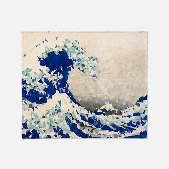 Great Wave Off Kanagawa Hokusai Triangles Throw Bl