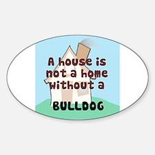Bulldog Home Oval Decal