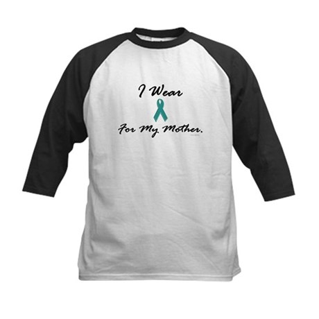 I Wear Teal For My Mother 1 Kids Baseball Jersey