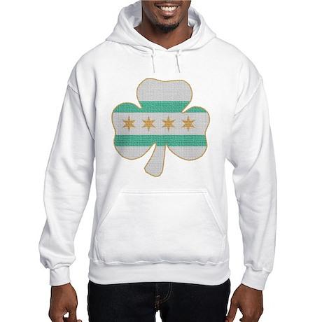 Irish Chicago flag shamrock Hooded Sweatshirt