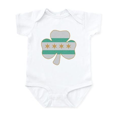 Irish Chicago flag shamrock Infant Bodysuit
