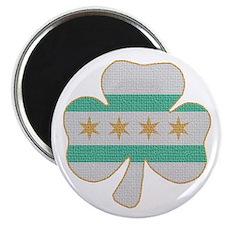 Irish Chicago flag shamrock Magnet