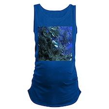 Shiny blue pebbles Maternity Tank Top
