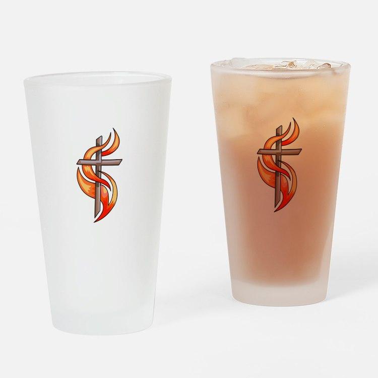 METHODIST CROSS Drinking Glass