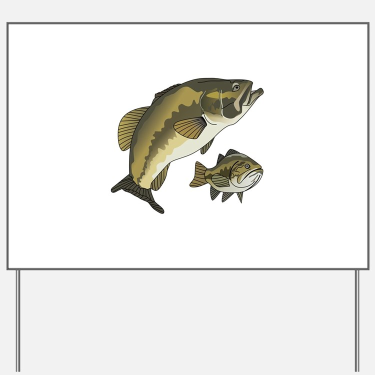 BASS FISHES Yard Sign