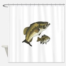 BASS FISHES Shower Curtain