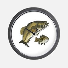 BASS FISHES Wall Clock