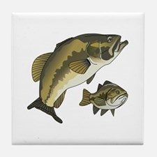 BASS FISHES Tile Coaster