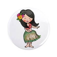 "HULA DANCER 3.5"" Button"