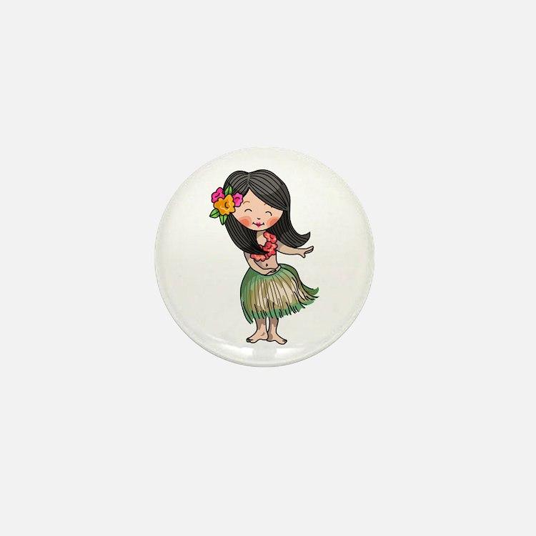 HULA DANCER Mini Button