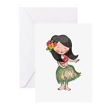 HULA DANCER Greeting Cards