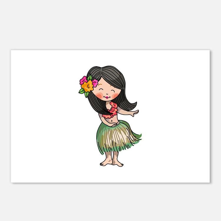 HULA DANCER Postcards (Package of 8)