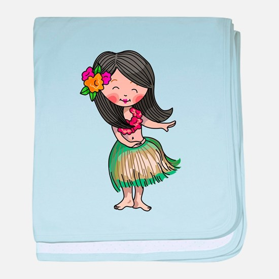 HULA DANCER baby blanket