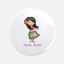 """HULA BABE 3.5"""" Button"""