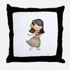HULA DANCER Throw Pillow