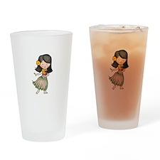 HULA DANCER Drinking Glass